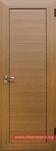 Алуминиева врата за баня - Златен дъб