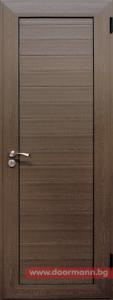 Алуминиева врата за баня - Орех
