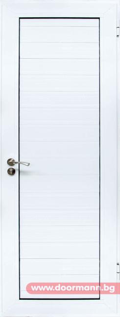Алуминиева врата за баня - Бяла
